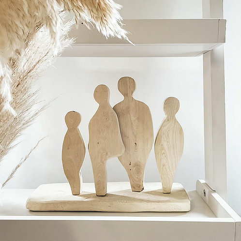 My Family | Hand Carved Wooden Sculpture