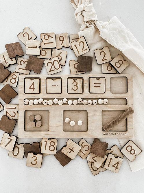 Counting Board - Log Theme