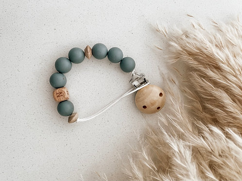 Personalized Pacifier Clip | Grey