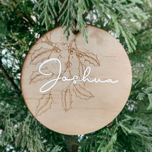 Personalized Wooden Disc | Holly Collection