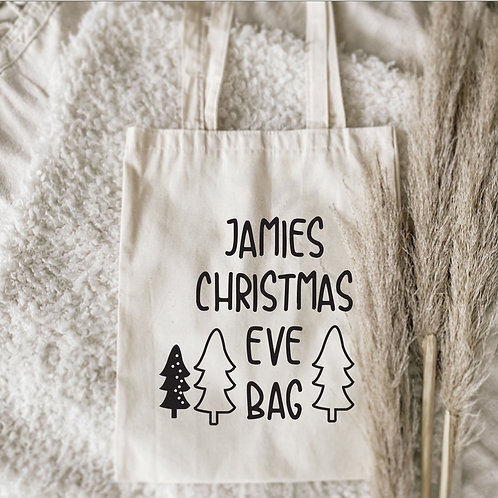 Snowy Personalized Christmas Eve Sack
