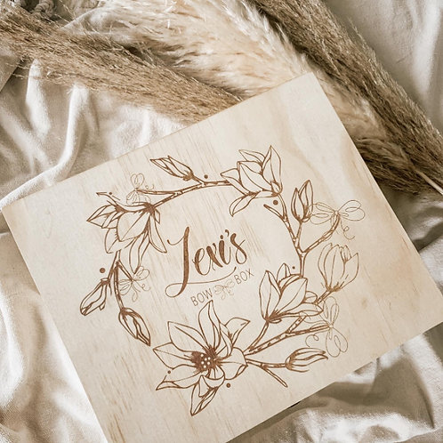 Personalized Bow Box | Floral Design