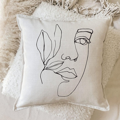 Cushion | Modern Leaf on Face