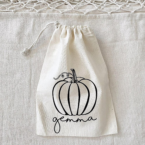 Personalized Pumpkin Sack
