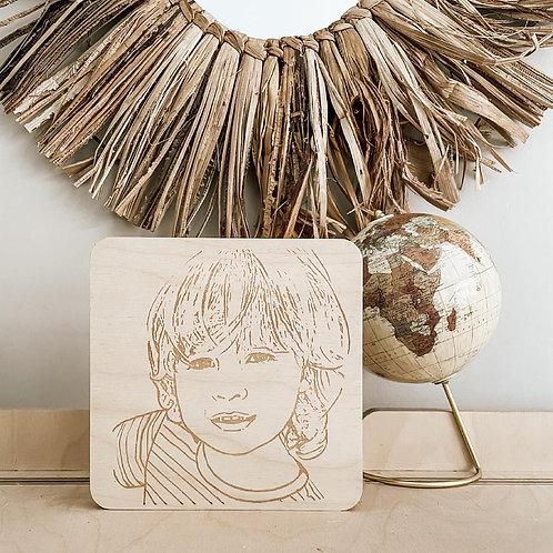 Engraved Photo Block