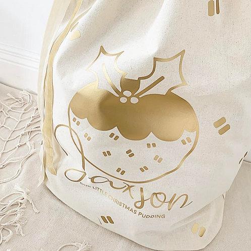Personalized Gift Sack | Christmas Pudding