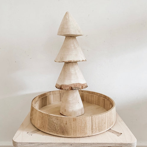 Wooden Hand Carved Tree | Large