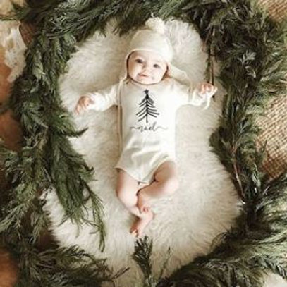 Personalized Romper With Tree