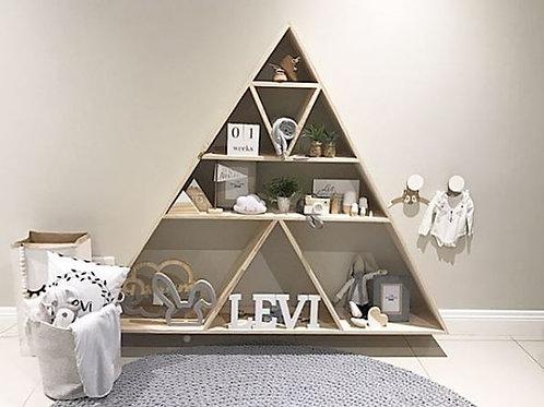Floating Triangle Wall Shelf