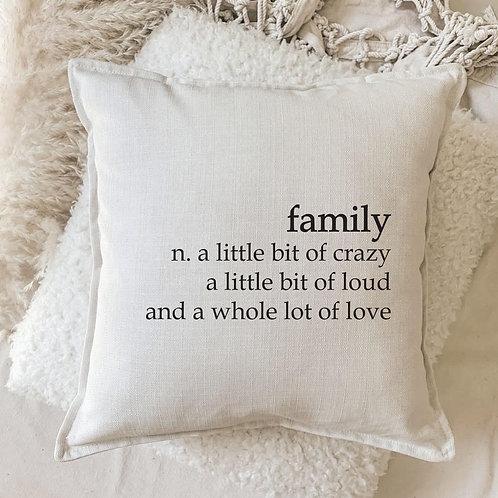Cushion   Family n.