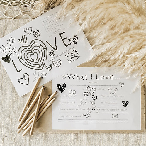 FREE GIFT | Love Place Mat and Questionnaire Printable