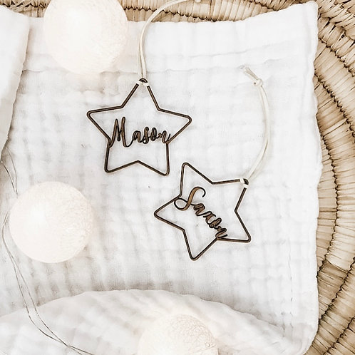 Personalized Wooden Hanging Star