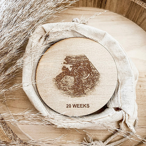 Engraved Scan Wooden Disc