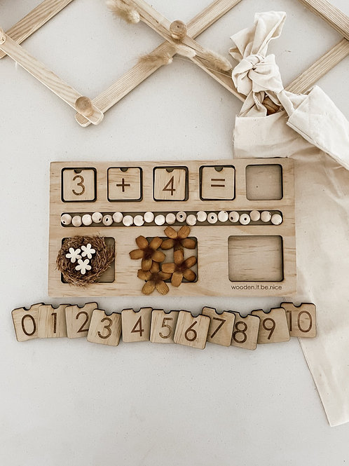Counting Board - Winter Flower Theme