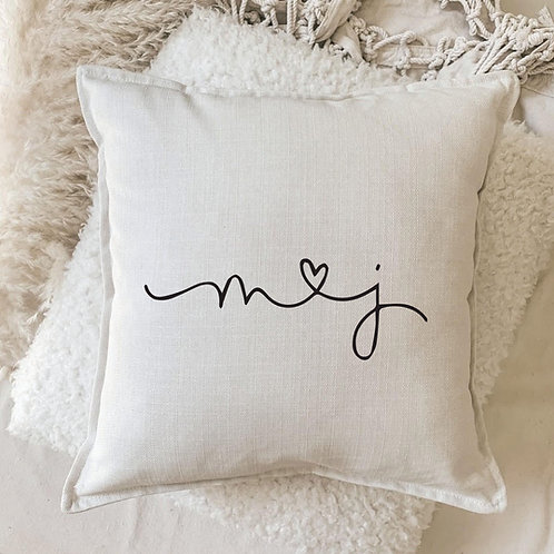 Cushion | Initial Love Personalized Pillow