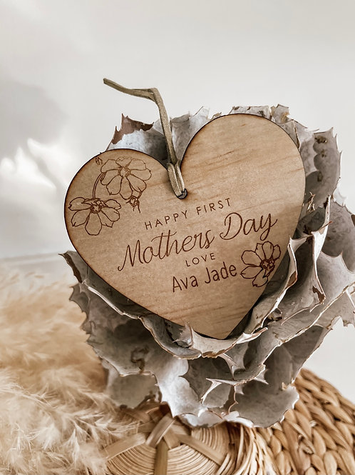 Happy First Mothers Day Disc | Personalized Plaque