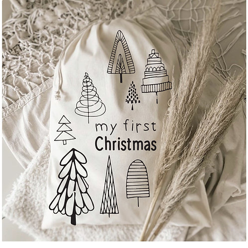 My First Christmas Gift Sack Twirly Trees Collection