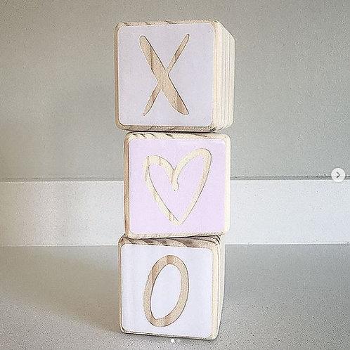 XO Wooden Block Set
