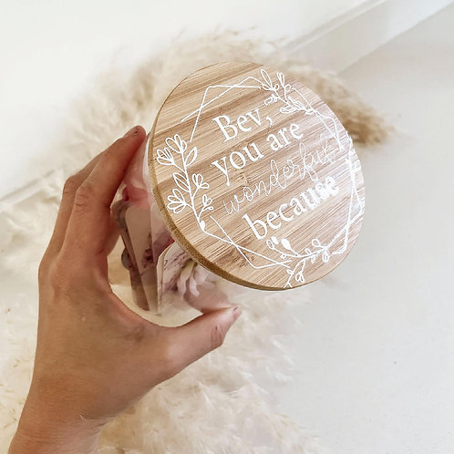 Memories   Personalized Glass Jar