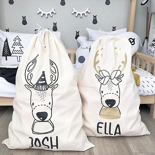 Personalized Gift Sack | Reindeer