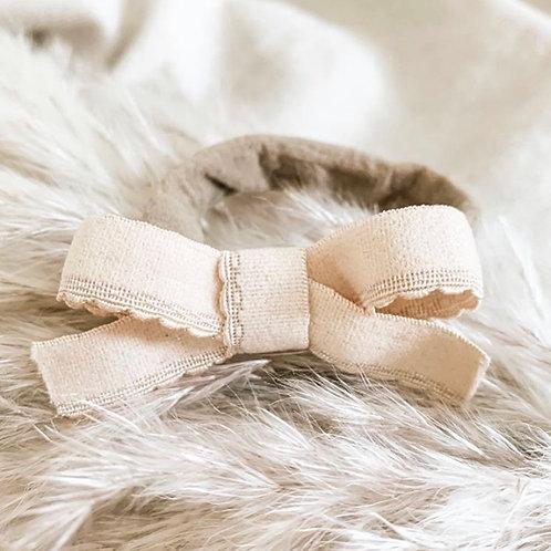 Lace Trim Bow Set