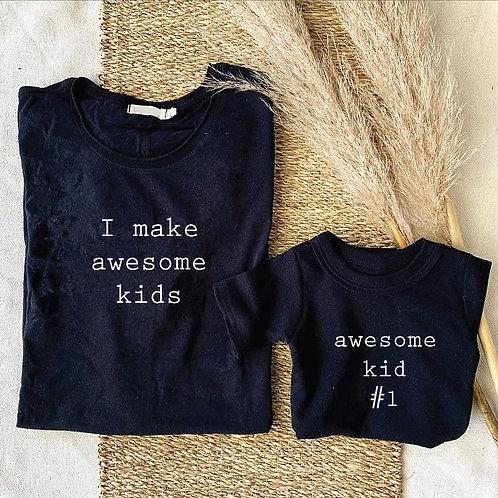 I Make Awesome Kids Long Sleeve Tshirt