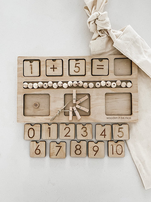 Counting Board - Peg Theme
