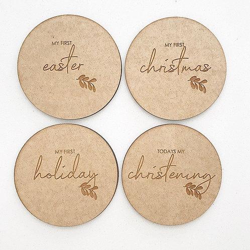 Wooden Celebration Discs