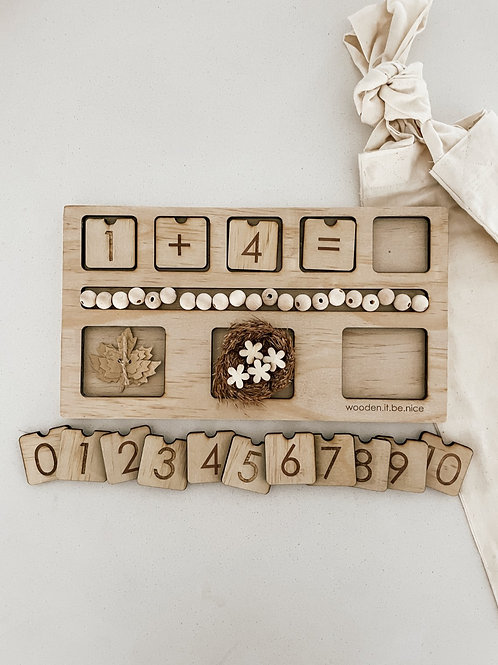 Counting Board - Autumn Leaf Theme