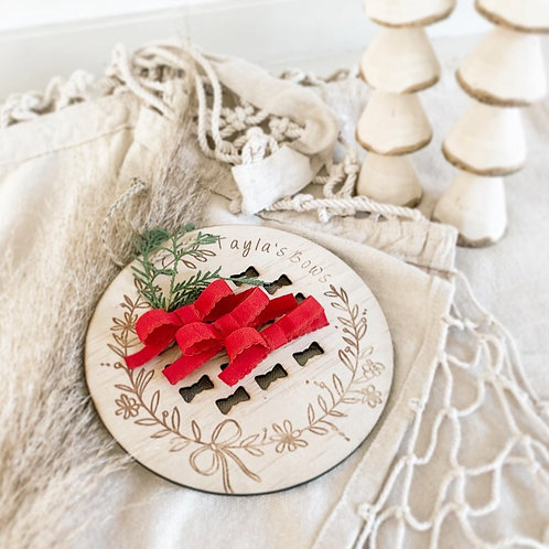 Lace Trim Bow   Red