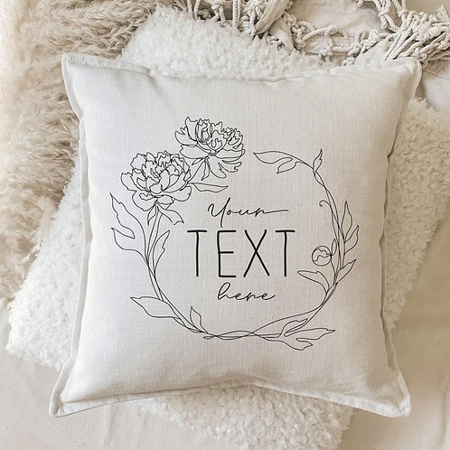 Cushion | Personalize Me Wreath
