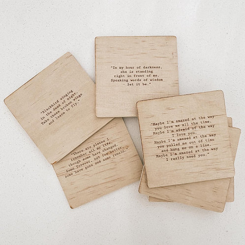Square Coasters   Personalize Me (Lyrics, Quotes , Drawings)