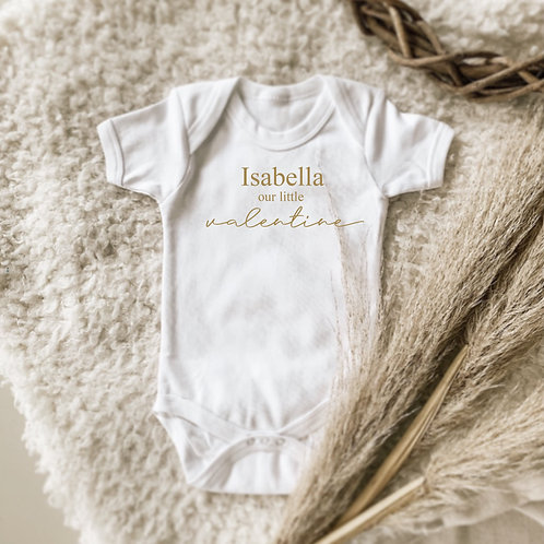 Personalized Our Valentine Onesie | Tshirt