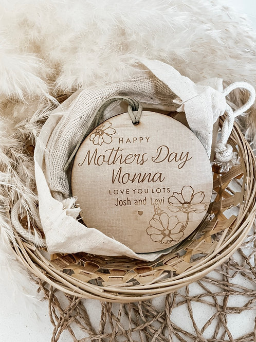 Happy Mothers Day Disc | Personalized Plaque