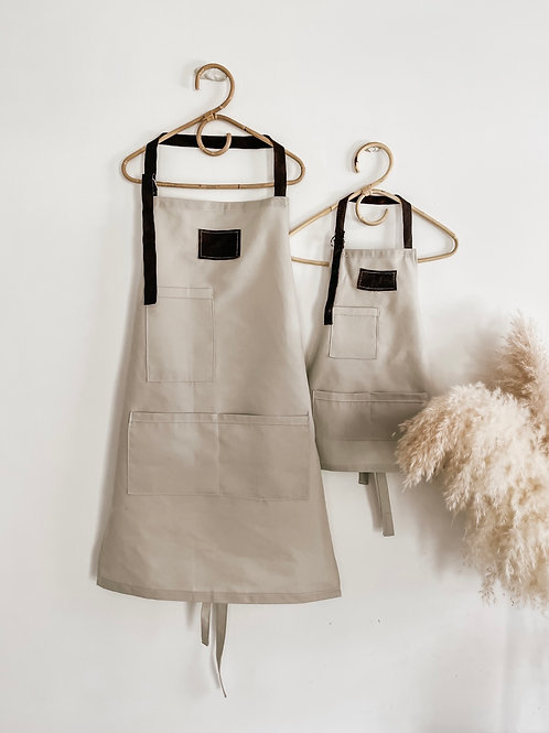 Adults Cotton and Leather Personalized Apron