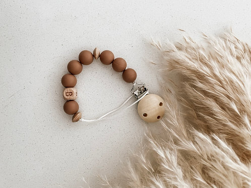 Personalized Pacifier Clip   Sand