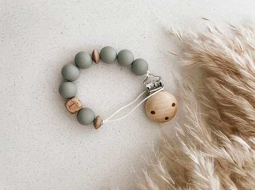 Personalized Pacifier Clip | Sage
