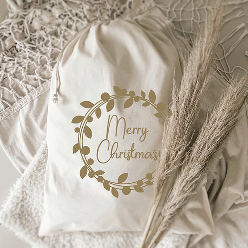 Merry Christmas Gift Sack Wreath Collection