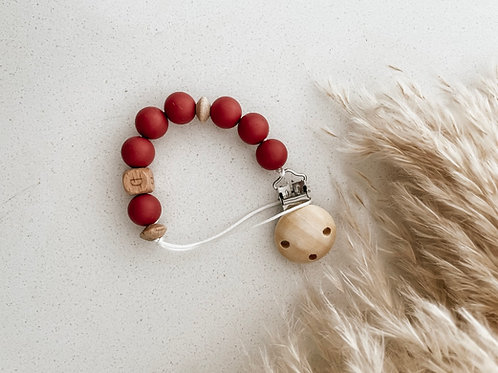 Personalized Pacifier Clip   Vintage Ruby