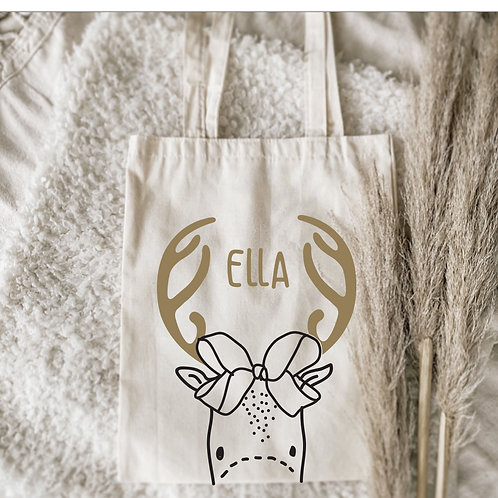 Personalized Reindeer Christmas Sack