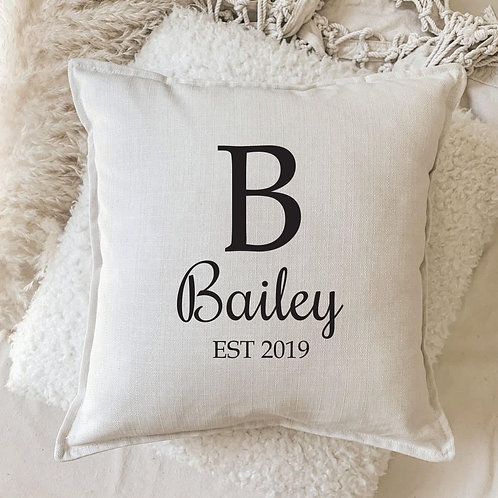 Cushion | Personalized Tyography