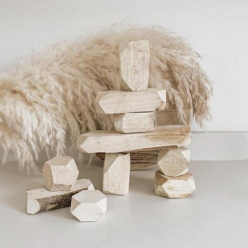Gem Blocks | Forest Feel Natural Wood set of 10