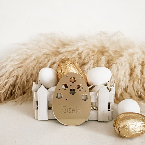 Personalized Easter Disc and Picket Fence Basket