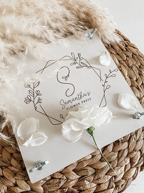 Personalized Flower Press | Floral Frame