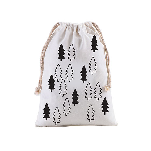Personalized Gift Sack | Monochrome Trees