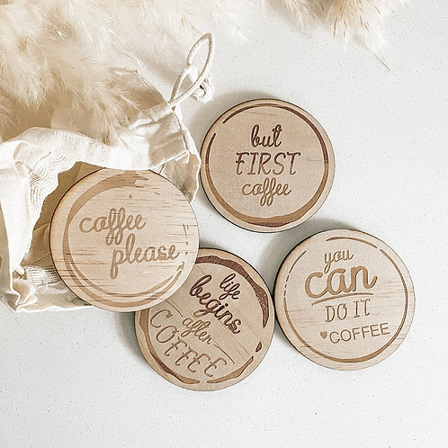 Personalized Coffee Coaster Set