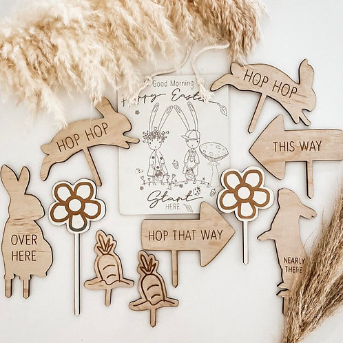 Easter Hunting Signs