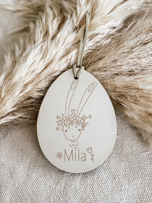 Personalized Wooden Tag | Fleur