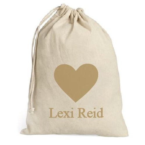 Personalized heart valentine sack