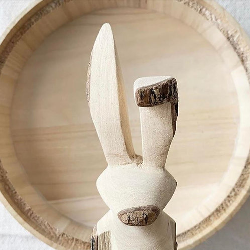 Hand carved Woodland Figurine | Hare
